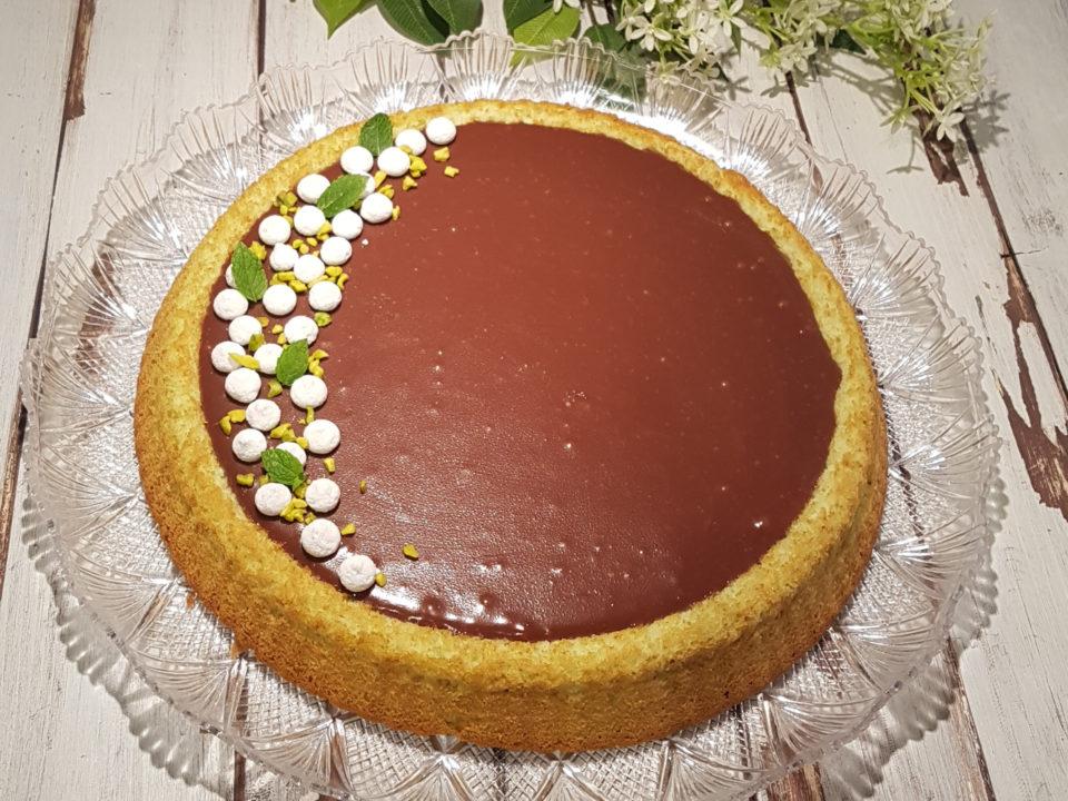 Torta californiana cioccolato, cocco e menta