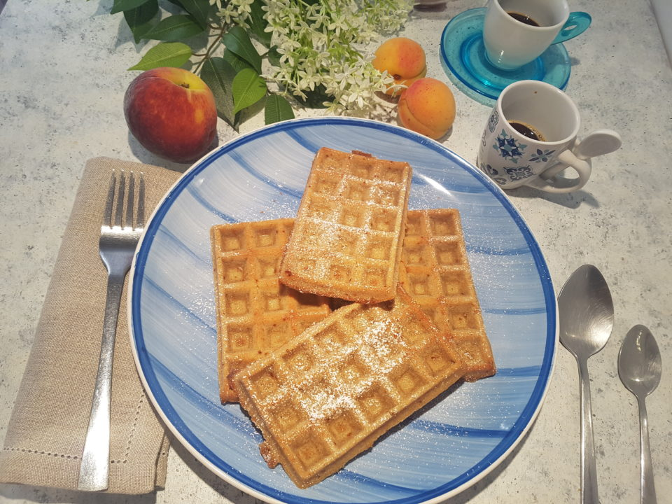 (Italiano) Waffles all'acqua integrali all'avena