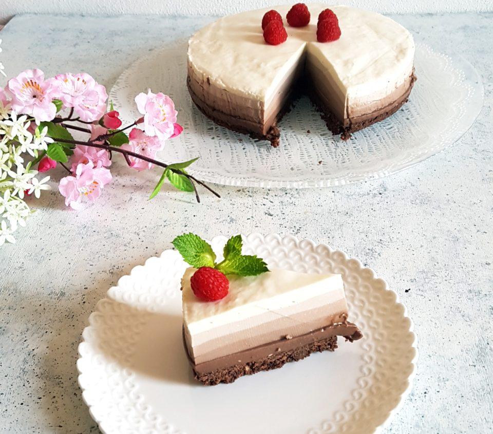 Torta senza glutine alle cinque sfumature di cioccolato