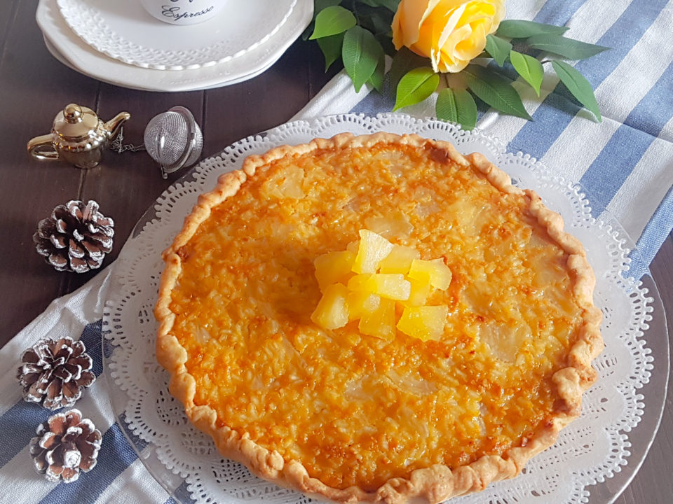 (Italiano) Crostata con crema di riso e ananas