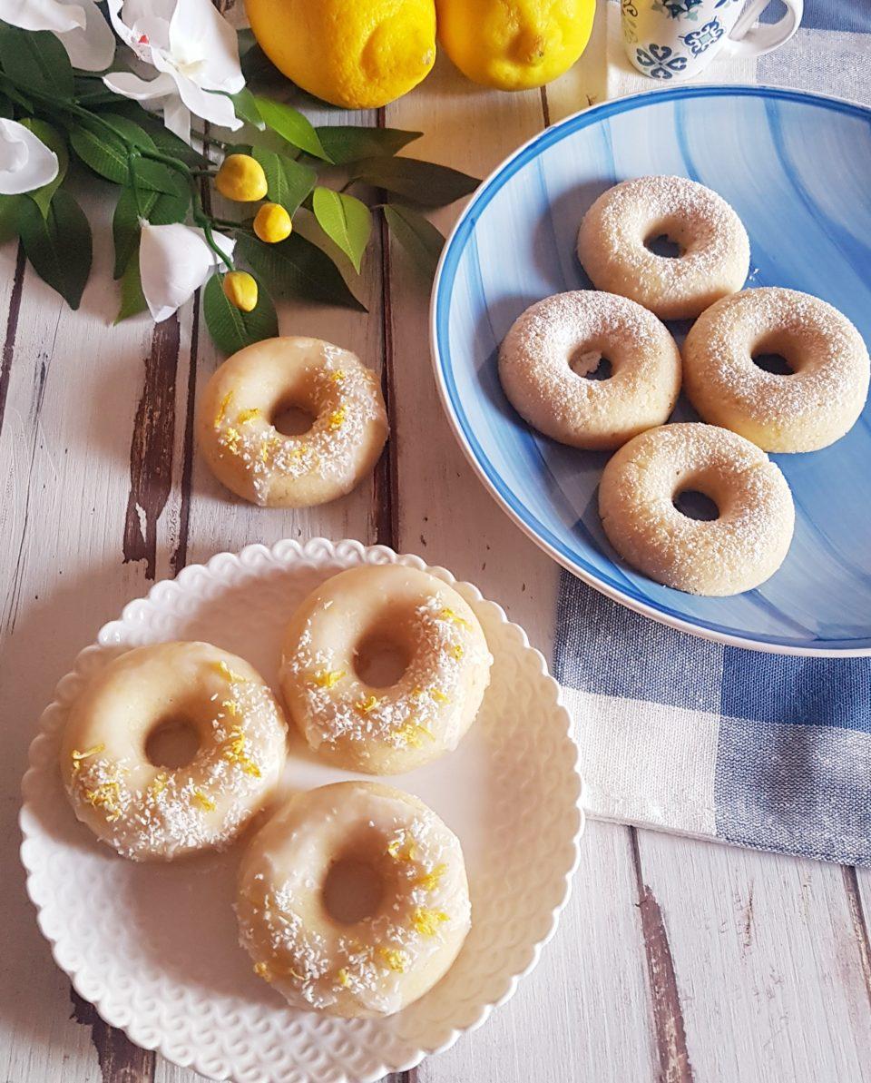 Ciambelline vegane al cocco e limone