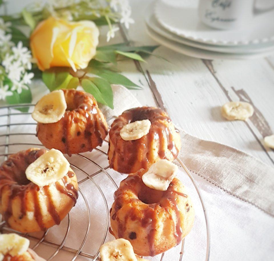 (Italiano) Ciambelline alla banana e cioccolato