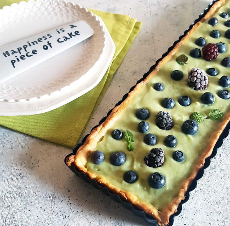 (Italiano) Crostata con crema al tè matcha