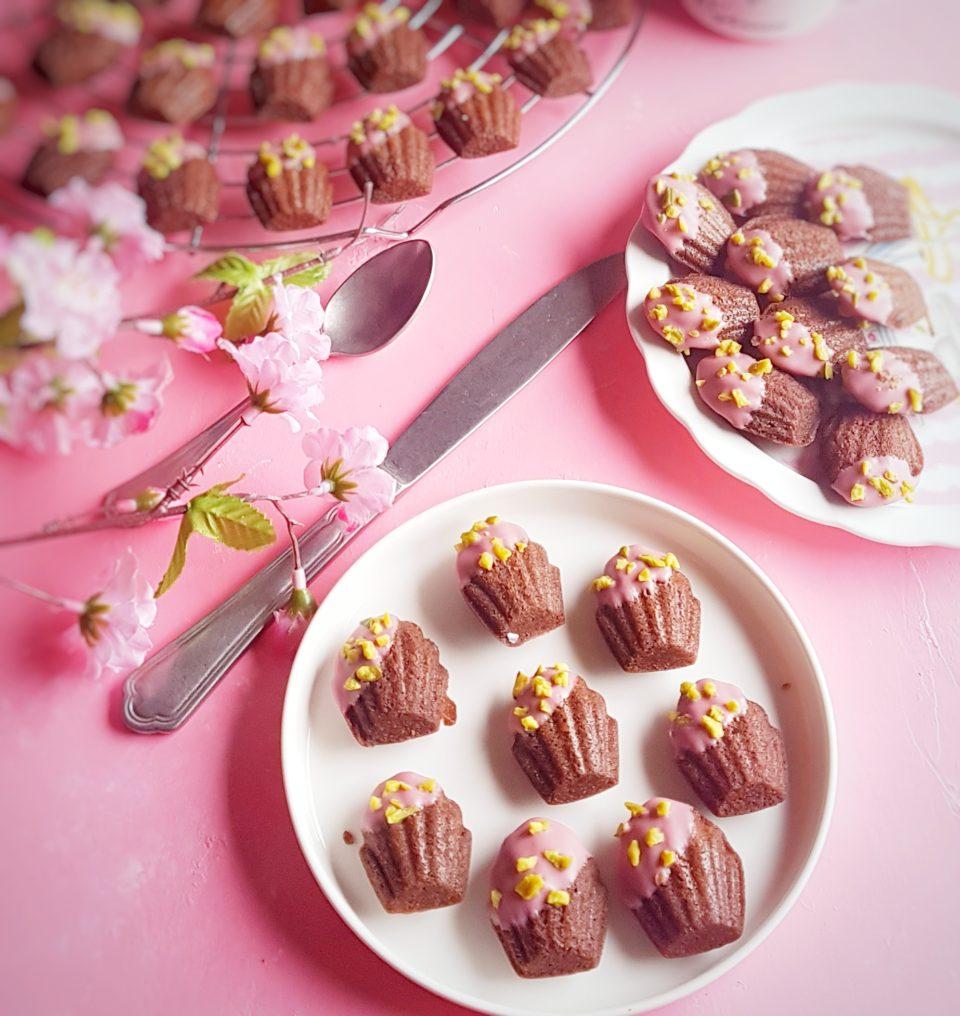 Madeleines senza glutine al cacao e nocciole