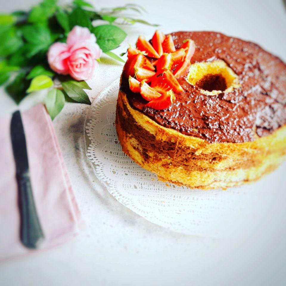 Chiffon cake marmorizzata senza glutine