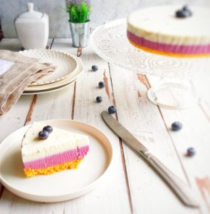 (Italiano) Cheesecake alla lavanda e mirtilli