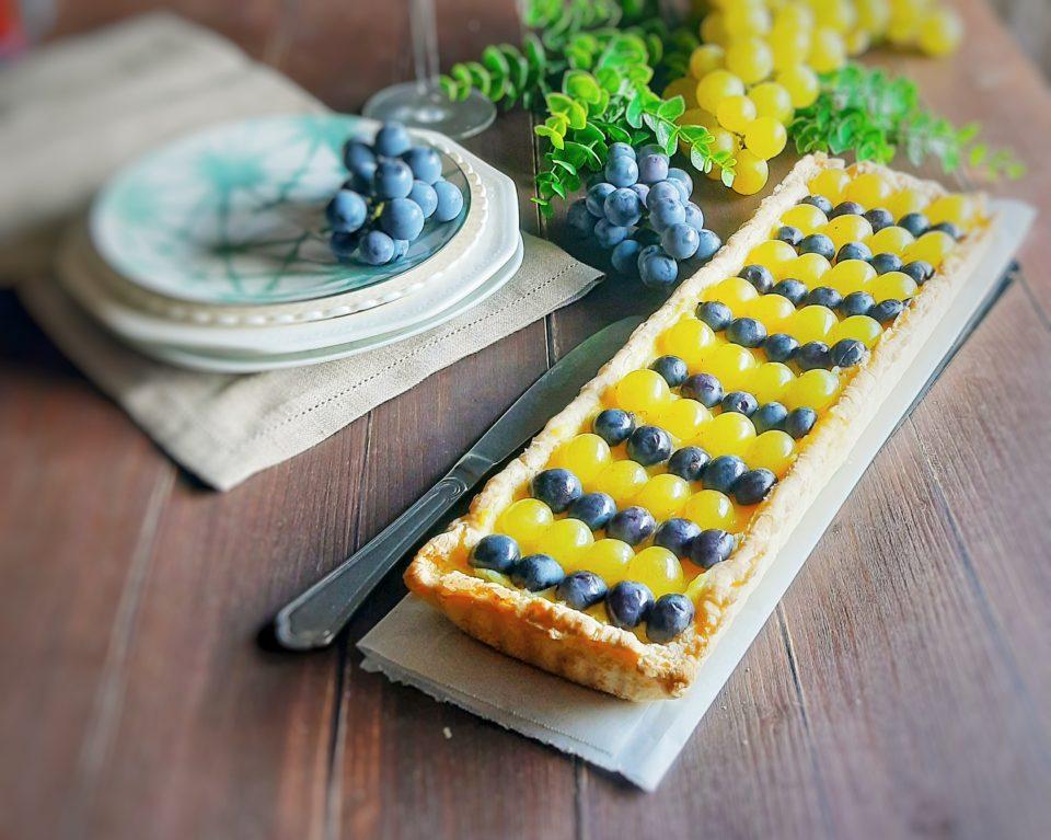 Crostata senza glutine all'uva