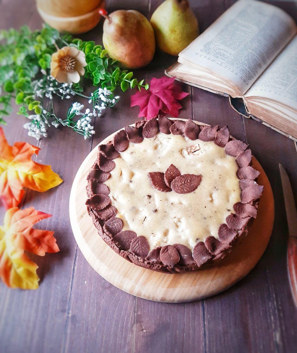 (Italiano) Crostata al cacao con frangipane alle mandorle e pere