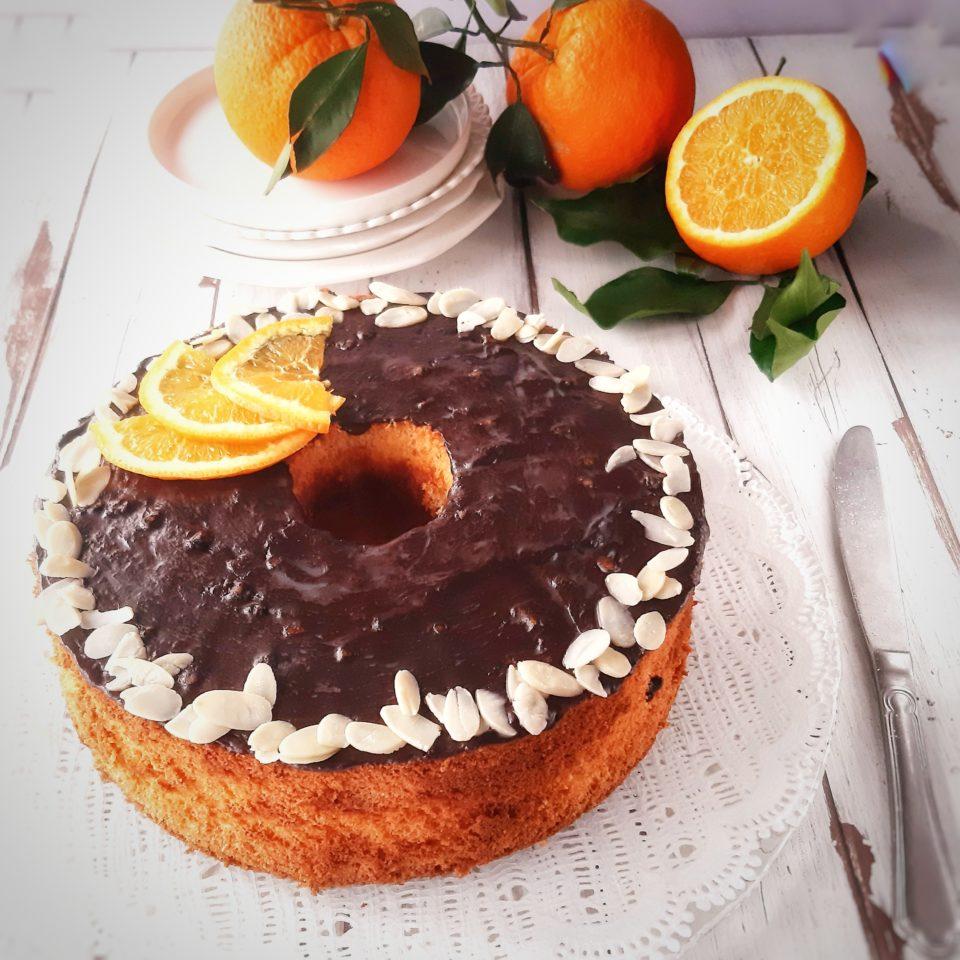 (Italiano) Chiffon cake all'arancia e mandorla