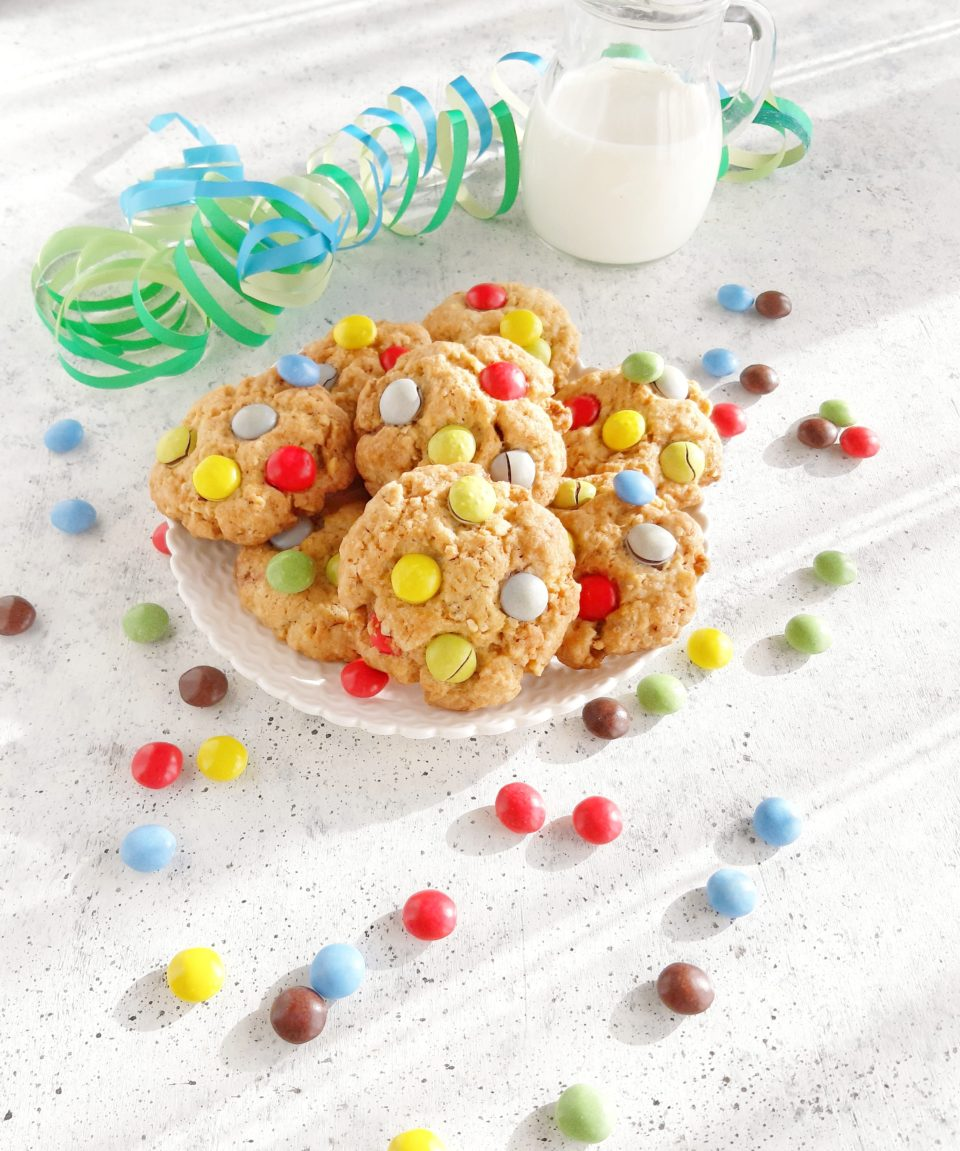 (Italiano) Cookies all'avena e smarties