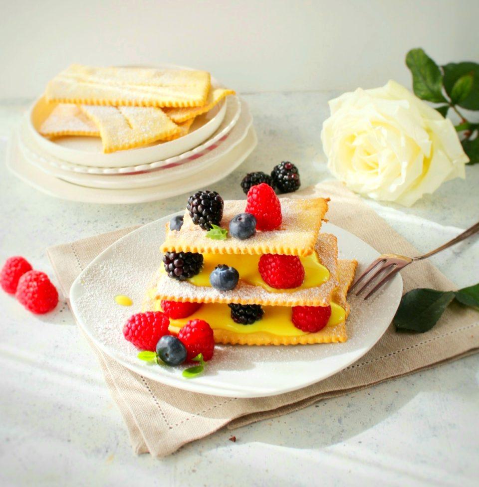 (Italiano) Millefoglie di chiacchiere senza glutine