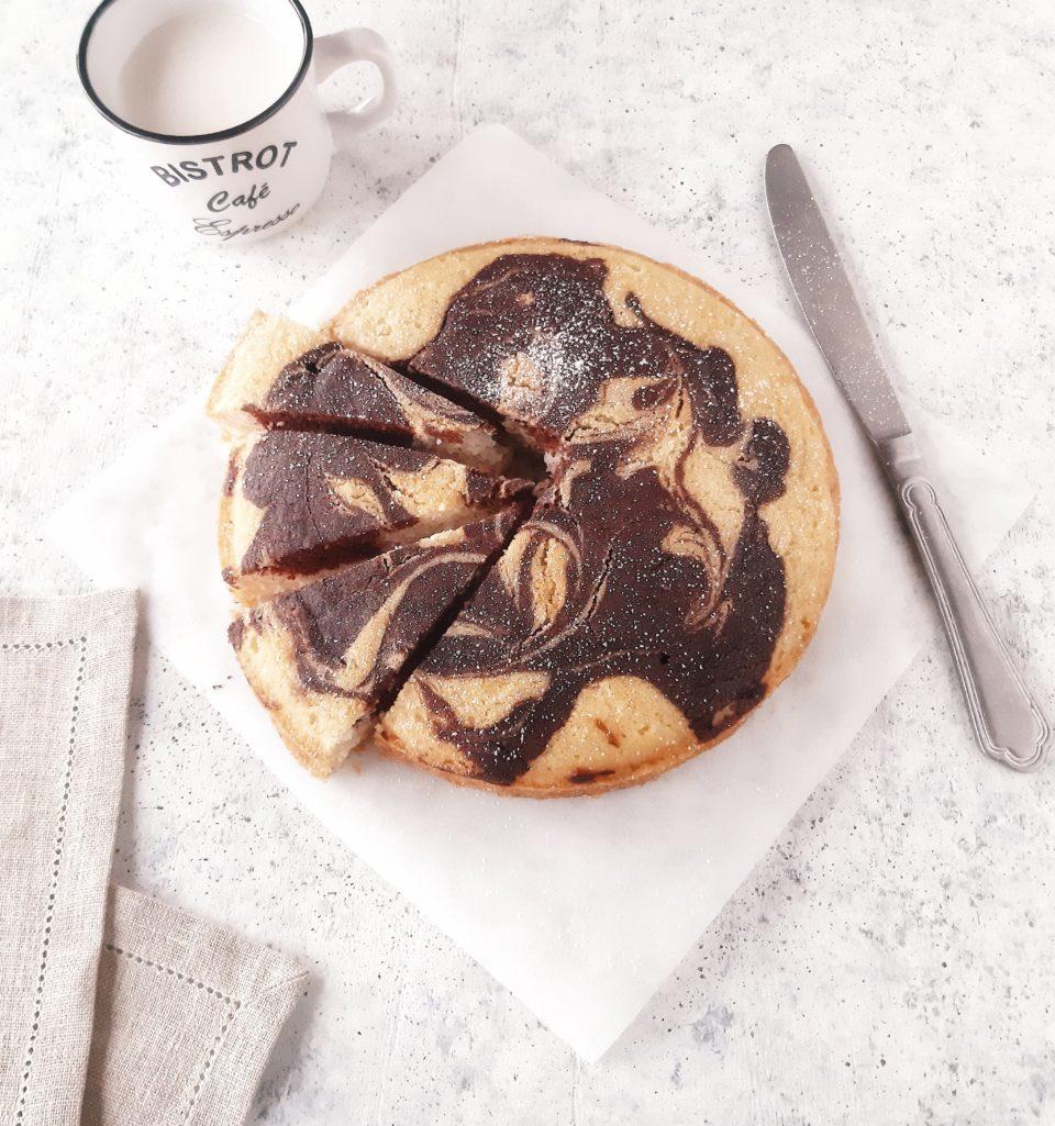 Torta marmorizzata vegan senza glutine