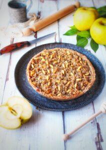 (Italiano) Crostata sbriciolata al grano saraceno e mele