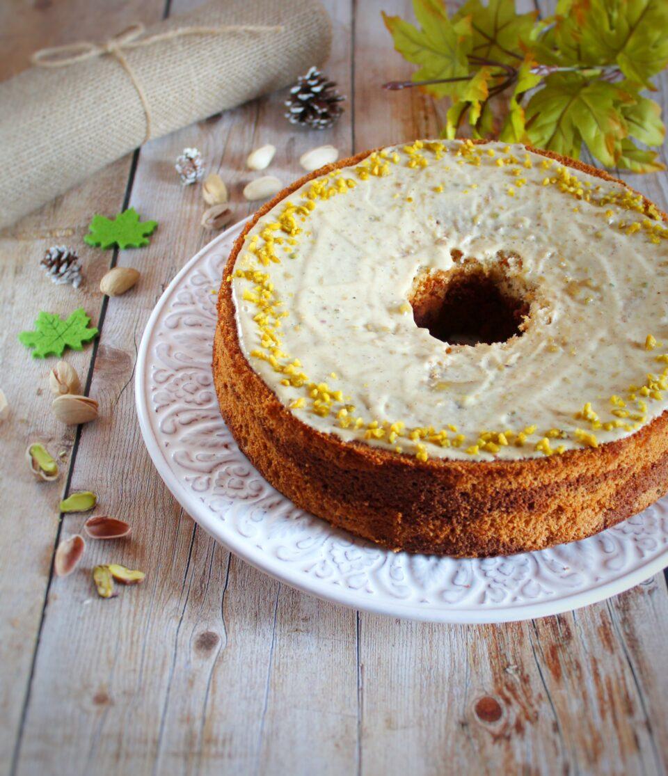 (Italiano) Chiffon cake variegata al pistacchio