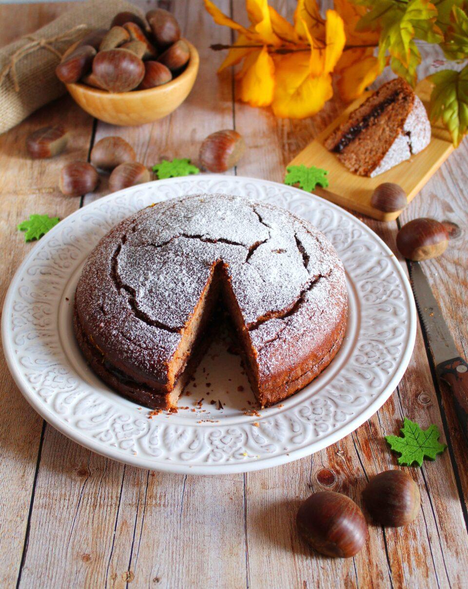 (Italiano) Torta alla farina di castagne e ricotta