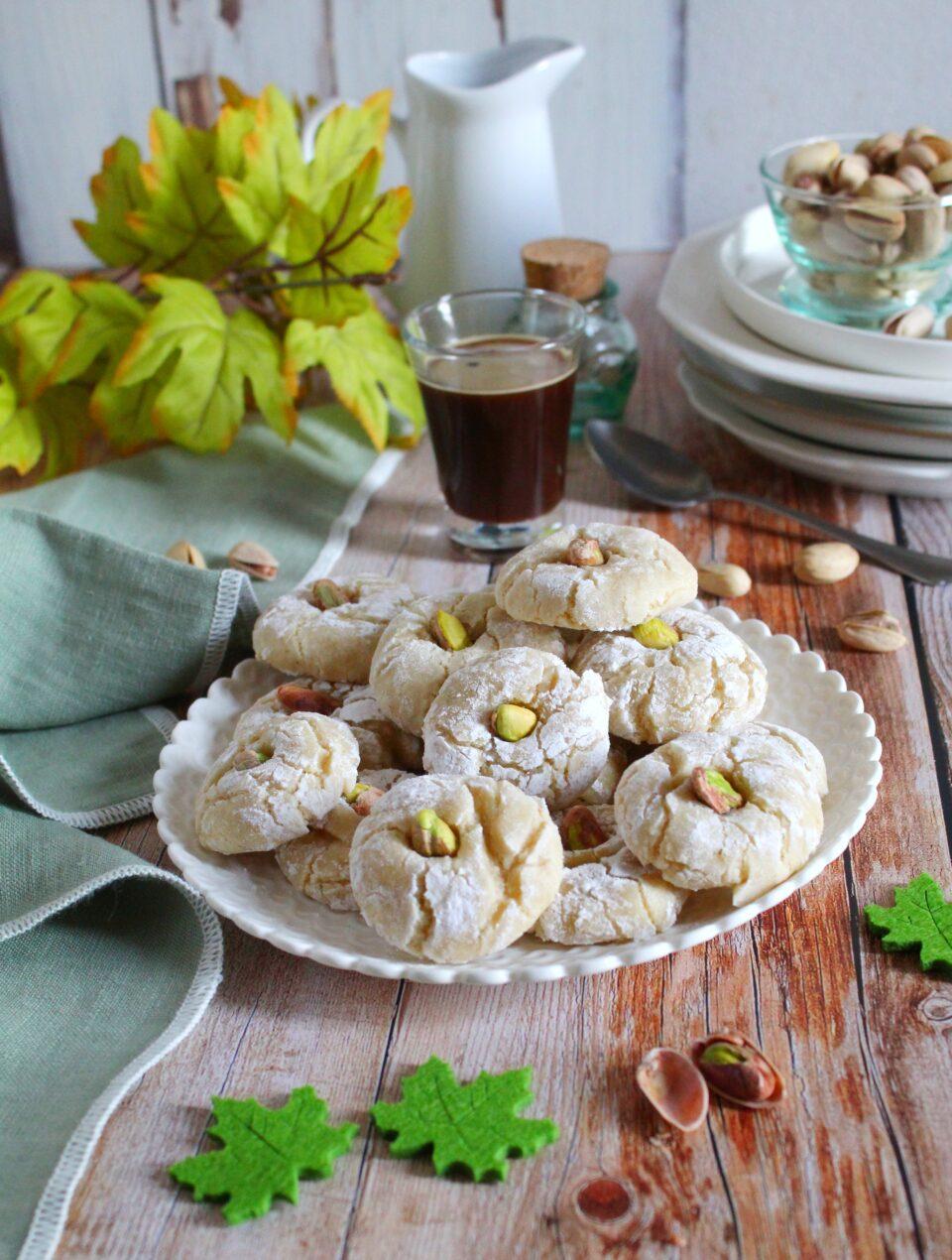 Gluten and dairy free pistachio amaretti