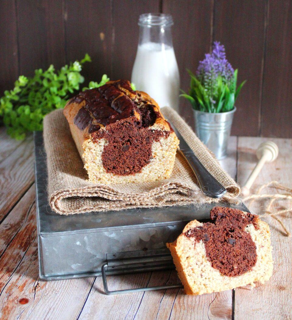 (Italiano) Plumcake di farro vegan bicolore