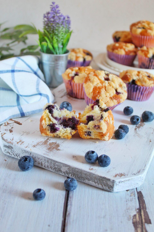 (Italiano) Muffin ai mirtilli e lavanda