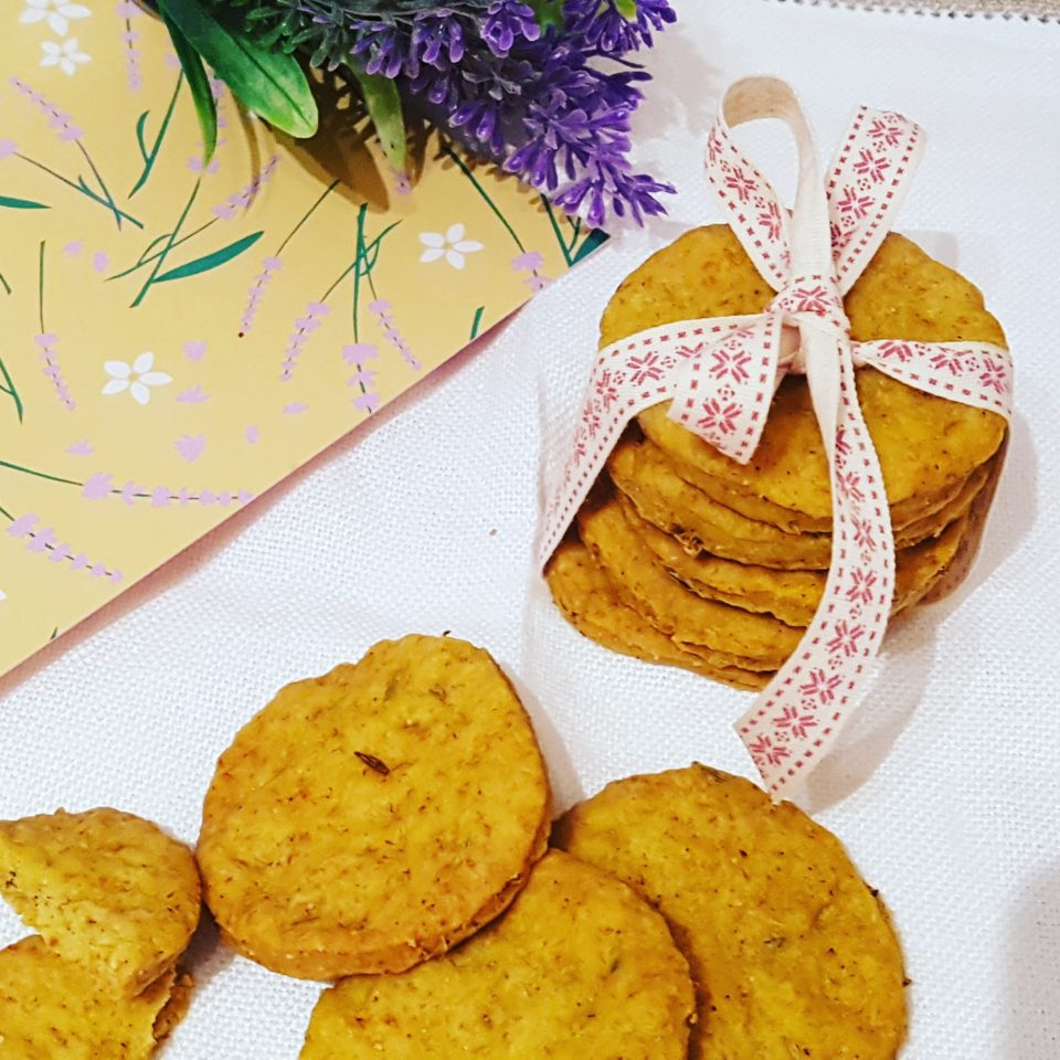 (Italiano) Crackers al curry vegani senza glutine