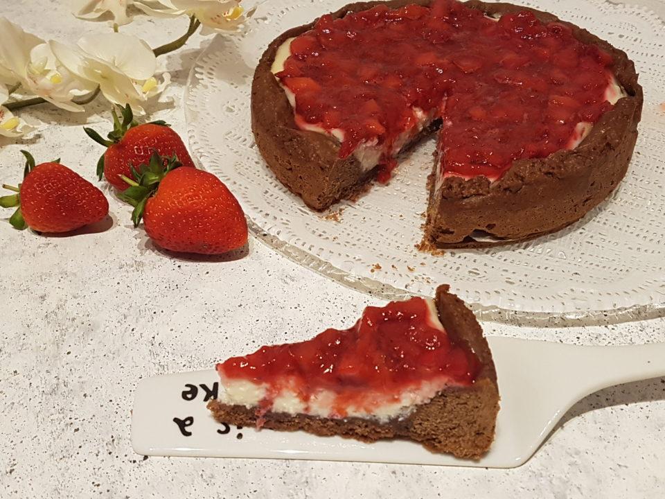 (Italiano) Cheesecake ricotta e fragole al forno