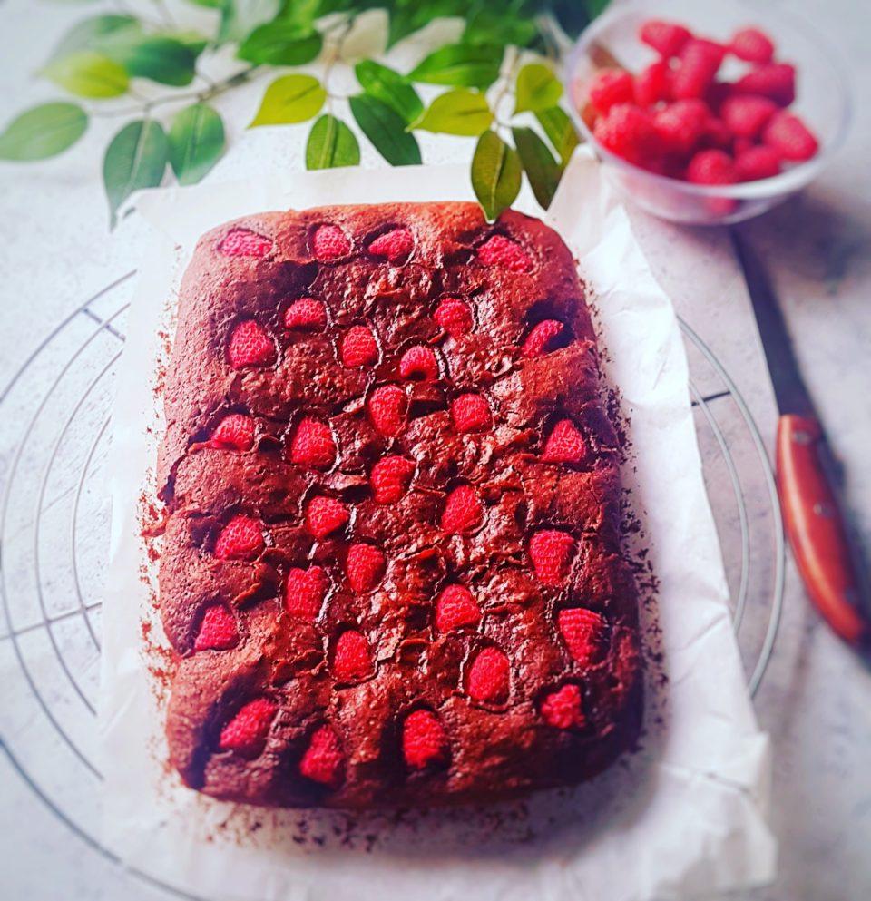 (Italiano) Brownies vegani e senza glutine ai lamponi