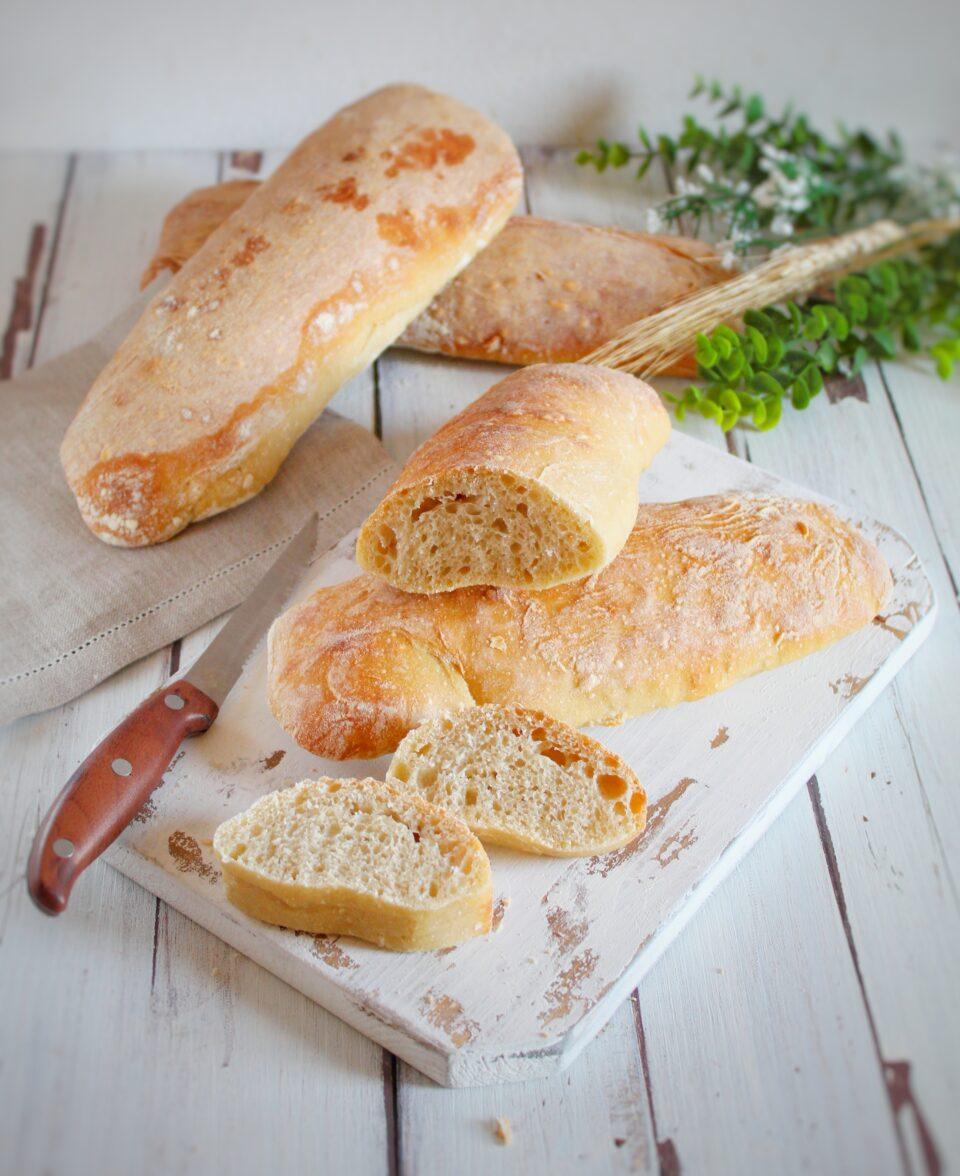 Sourdough ciabatte bread